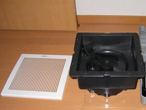 屋根裏排気型「換気排熱ファン」(三菱電機 V-20MEX2)施工前