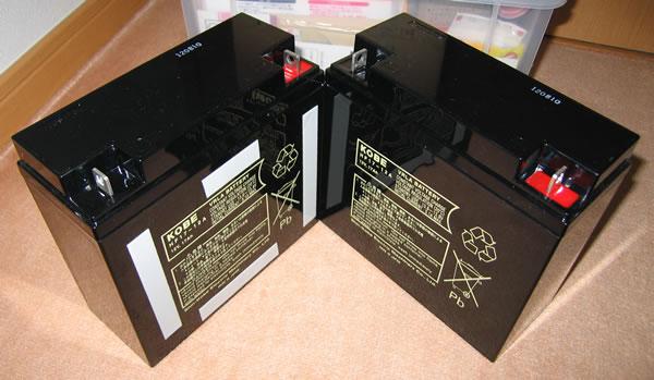 Smart-UPS1500 のバッテリー交換 新しいバッテリーを貼り合わせる