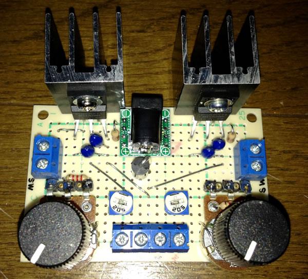 低損失可変レギュレーターPQ20RX11を使用した調光器(Version 2) 2回路バージョン