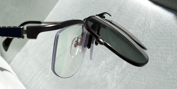 TALEX(タレックス)クリップオン サングラス メガネに装着
