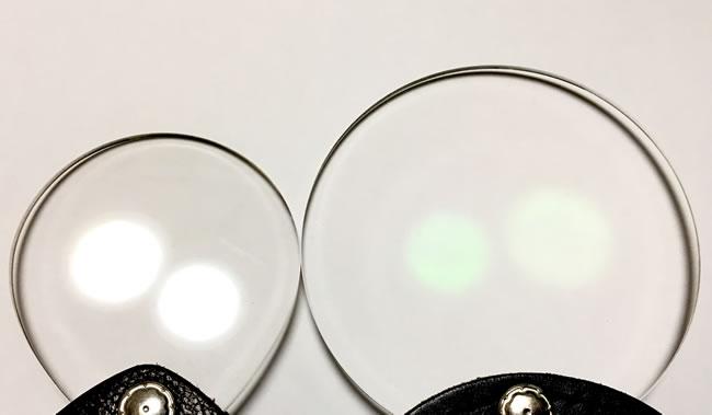 ポケットルーペの光の透過の違い