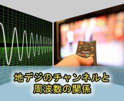 地デジのチャンネルと周波数の関係