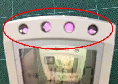 シーリングライトのリモコン修理 (TOSHIBA FRC-156T 赤外線LEDの動作確認)