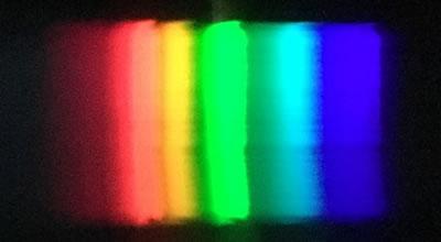 蛍光灯のスペクトル