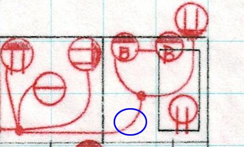 お風呂場の回路図