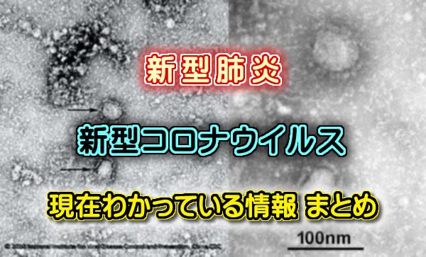 【新型肺炎】新型コロナウイルス情報 まとめ