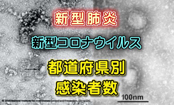 【新型肺炎】新型コロナウイルス 都道府県別の感染者数