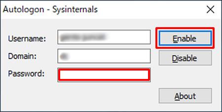 Autologon-Sysinternals(オートログオンツール)