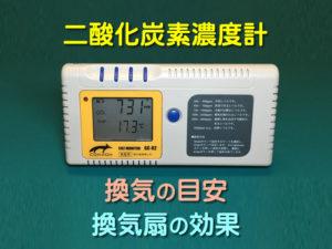 二酸化炭素濃度計が換気の目安になる理由と、換気扇の効果を検証してみた